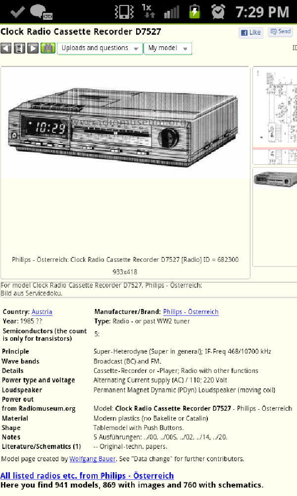 What's 'd7527 electronic clock radio recorder ' Worth? Picture