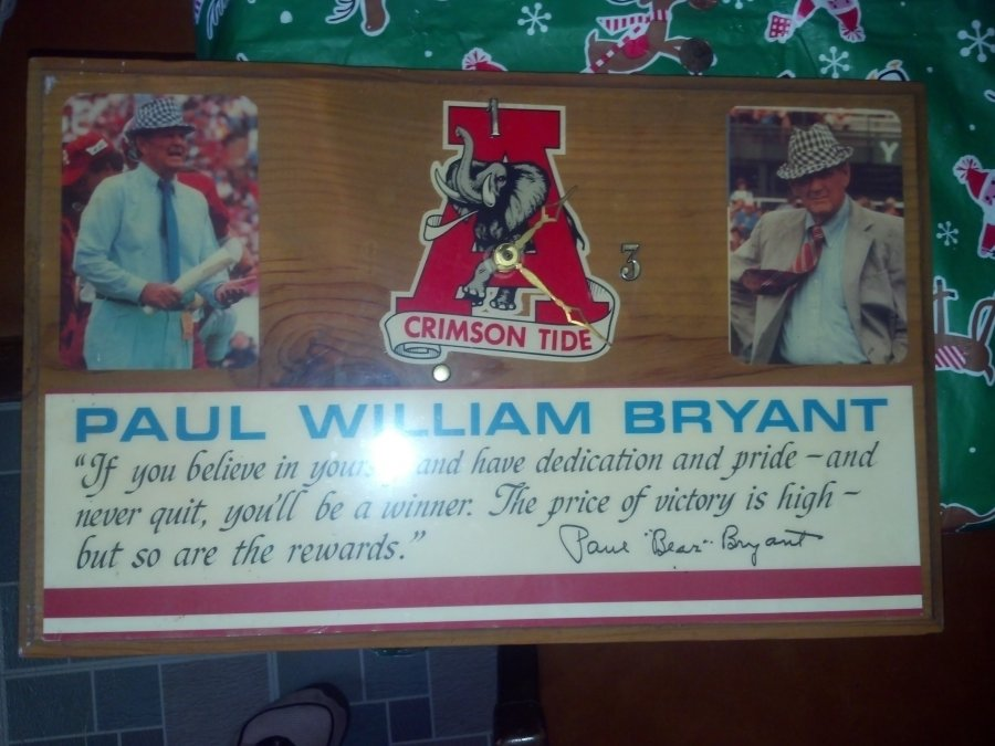 What's 'Bear Bryant clock ' Worth? Picture