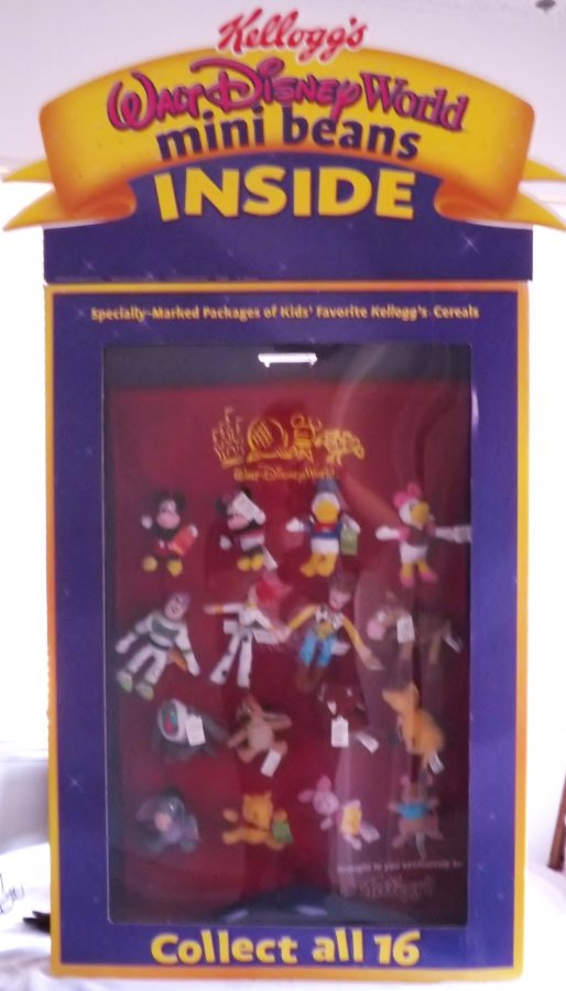 What's 'kelloggs walt disney world mini beans complete display' Worth? Picture