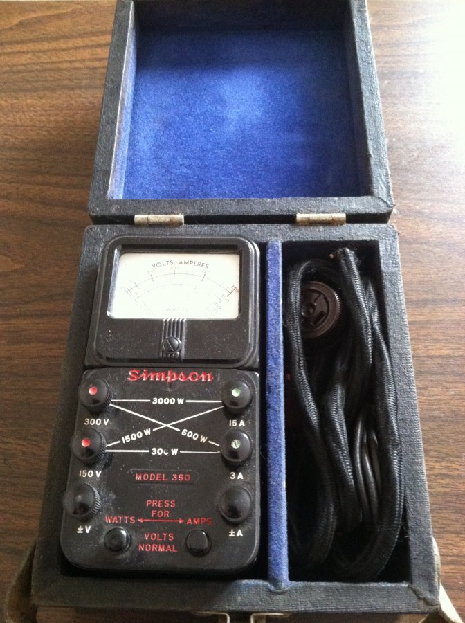 What's 'Simpson Model 390 Volt-Amp-Wattmeter' Worth? Picture