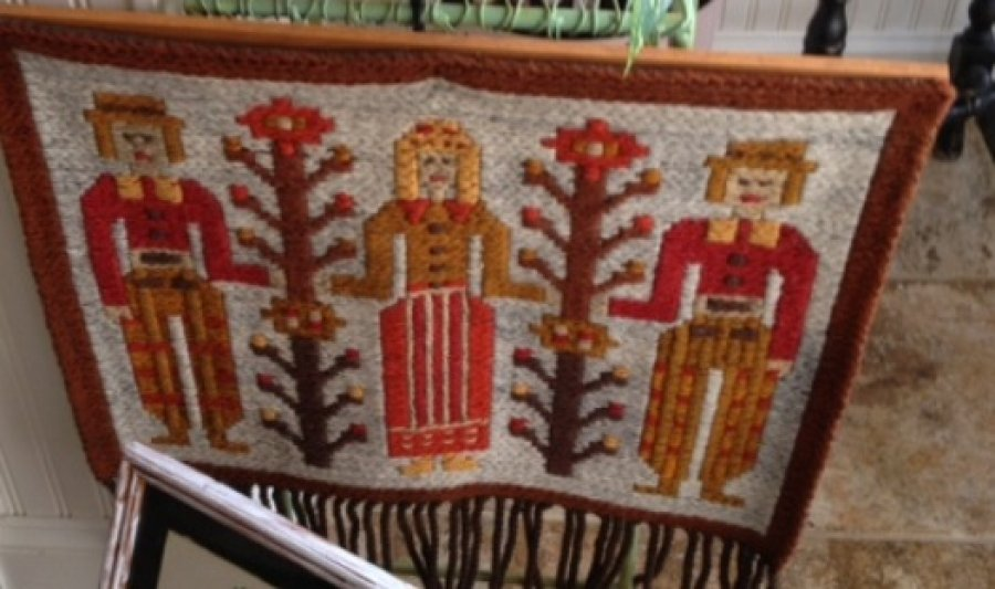 'polish wool wall hanging' Worth? Picture