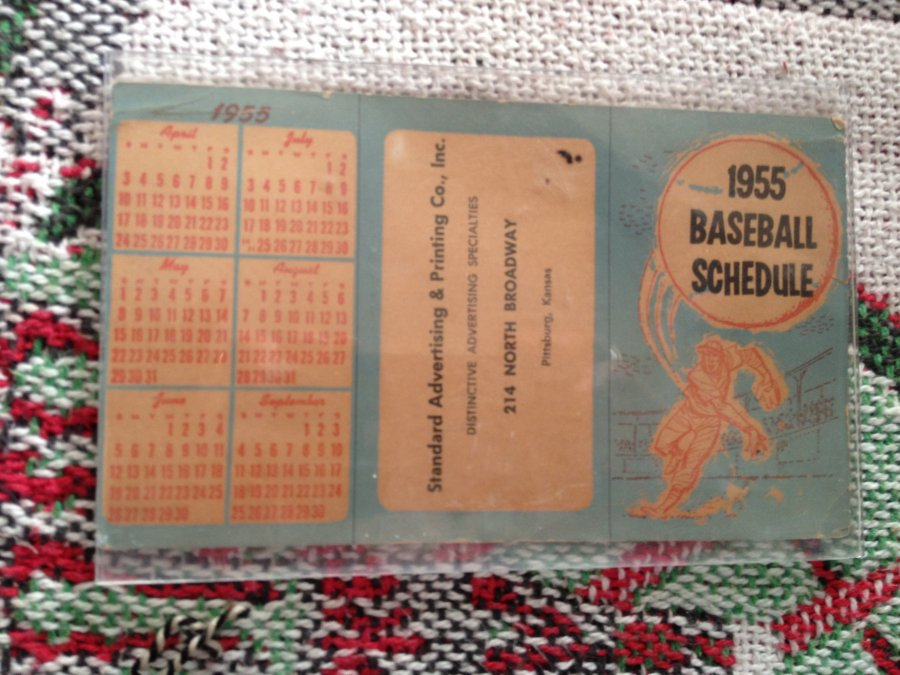 What's 'Pocket size 1955 baseball schedule' Worth? Picture