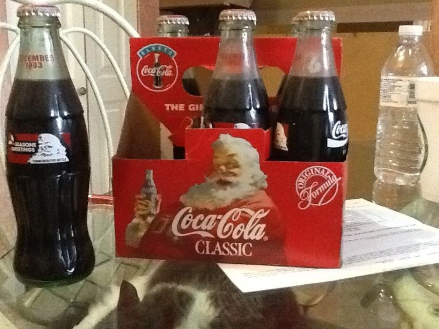 What's 'Coca-cola classic season greeting coke bottles 1993' Worth? Picture