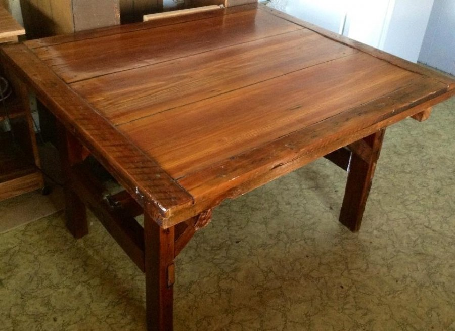 What's 'Handcrafted heartwood pine table' Worth? Picture