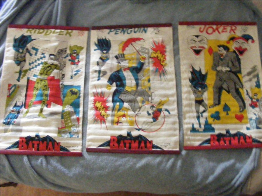 Batman's 3 main villians canvas banners from national periodical publications1966 Picture