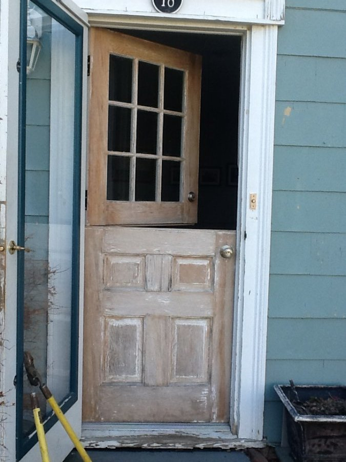 What 39 s dutch exterior door 1930s 39 worth reviewed in the for Dutch door lowes