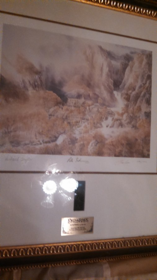 What's 'lithograph & film strip collectible Lord of the rings' Worth? Picture