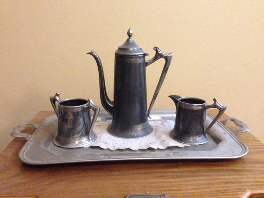What's 'silver hot cocoa set' Worth? Picture