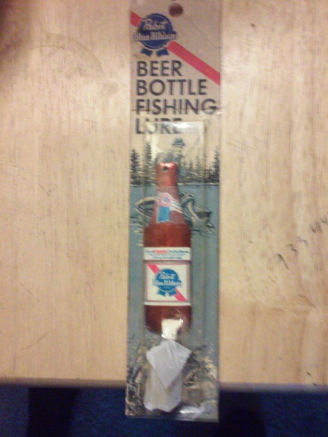 What's 'pabst blue ribbon beer bottle fishing lure' Worth? Picture