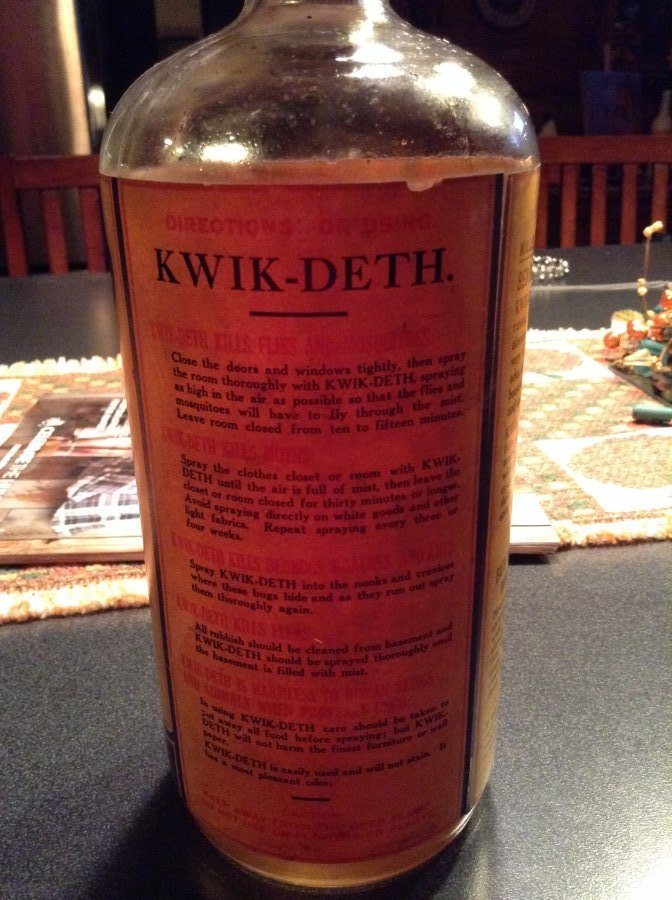 What's 'C f sauer Kwik deth insect killer' Worth? Picture