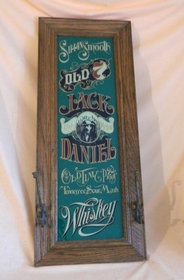 What's 'Rare jack Daniels coat rack mirror' Worth? Picture