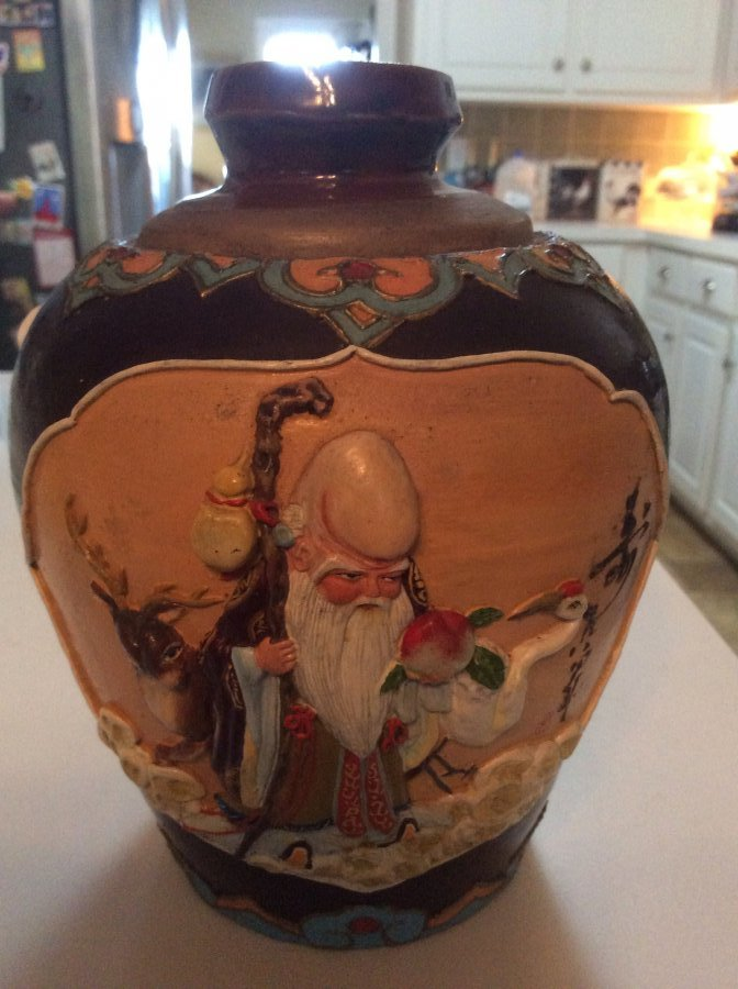 Chinese pottery with insignia Picture