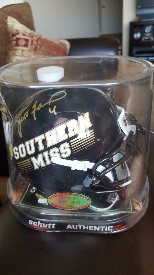 What's 'Schutt authentic autographed Brett Favre mini helmet' Worth? Picture
