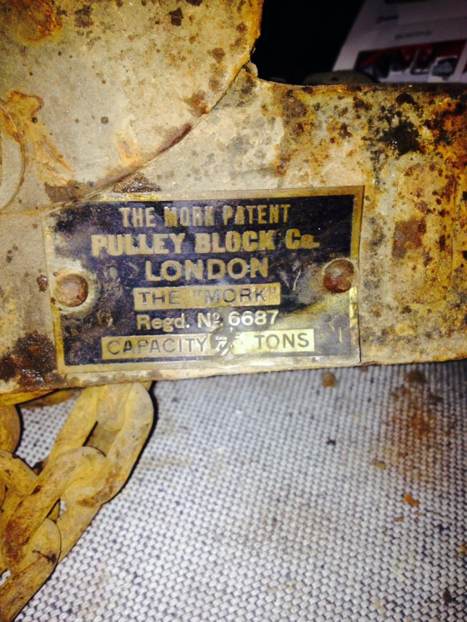 What's 'The mork patent pully block co london block and tackle 2 tonne' Worth? Picture