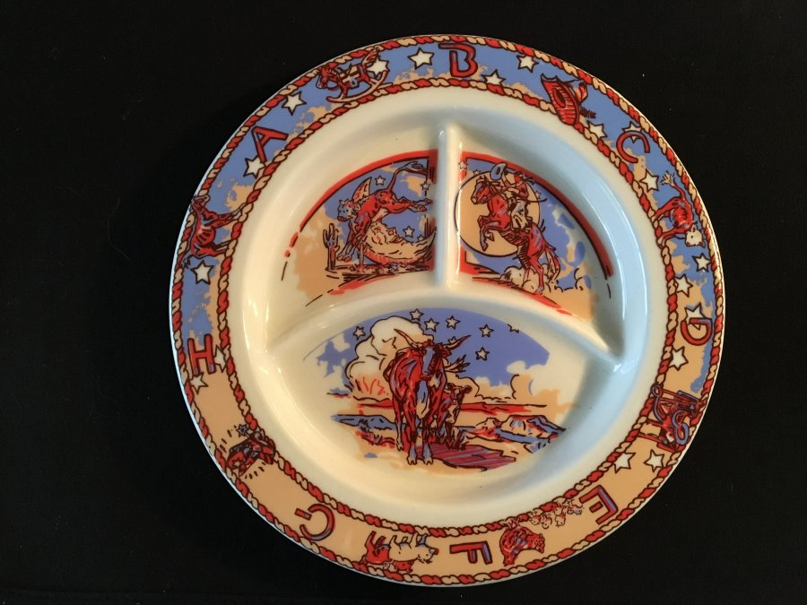 What's 'Pipestone Buckeye Blake Cow Baby Plate' Worth? Picture