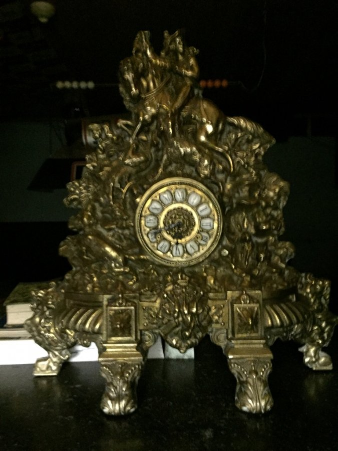 What's 'Mod Depositato 1870 Kaminuhr antik Messing Tischuhr Standuhr mechanisch Uhr' Worth? Picture