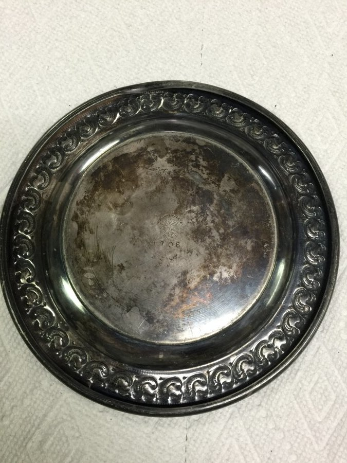 What's 'E.G. Webster Silver Baby Plate' Worth? Picture