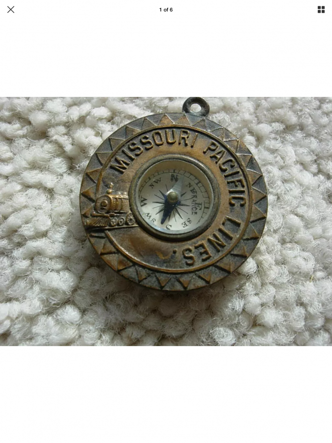 What's 'Missouri Pacific compass key fob' Worth? Picture