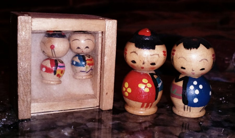 Japanese Wooden kokeshi Doll Picture