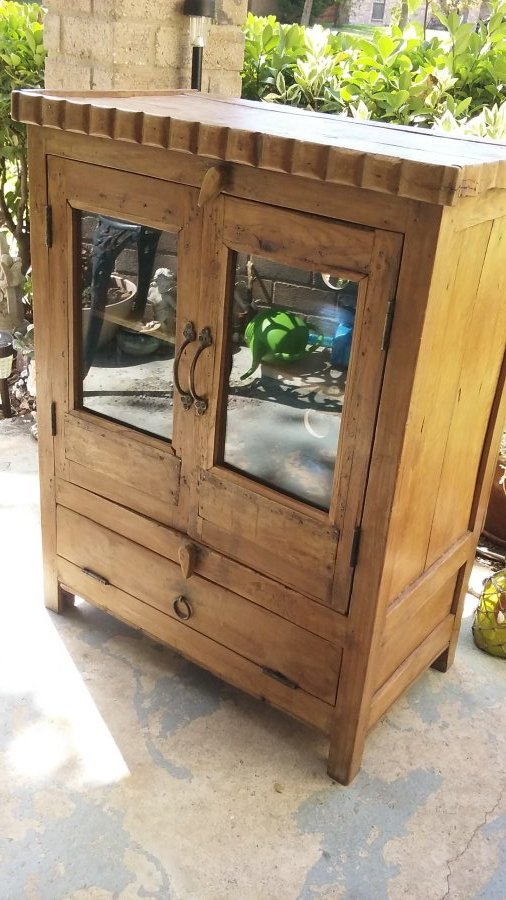 What's 'mexican cabinet with glass doors' Worth? Picture