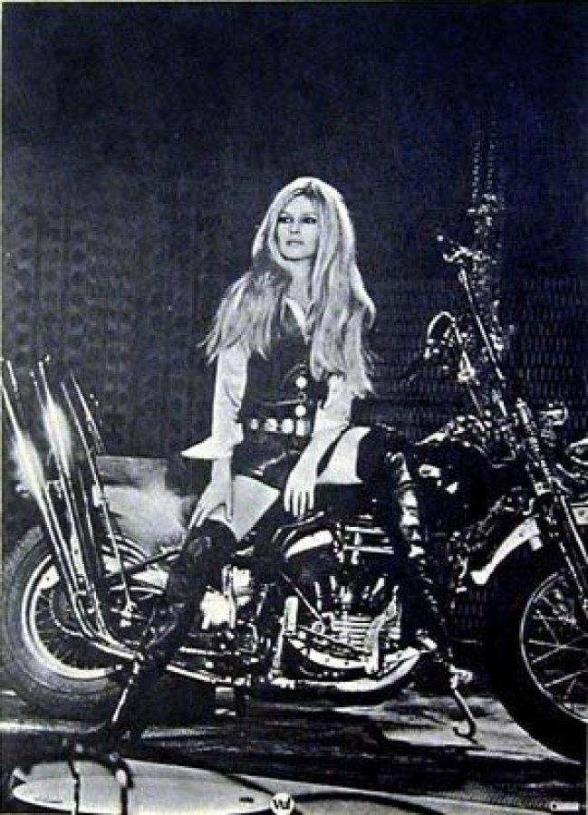 What's 'Bridgett Bardot on Panhead Harley Davidson' Worth? Picture