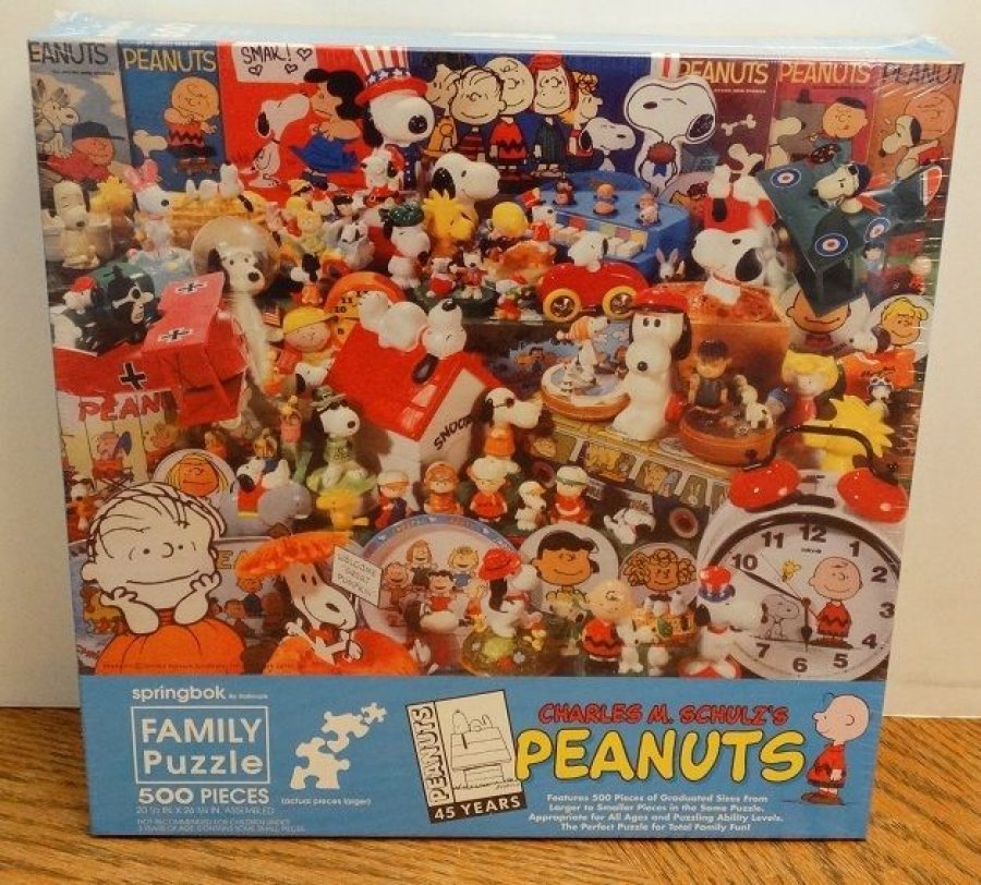 What's 'Springbok 500 piece Charles M. Schultz Peanuts 45th anniversary puzzle' Worth? Picture