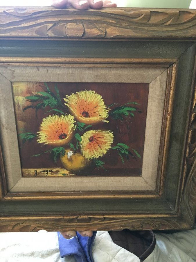 What's 'Original oil painting of yellow flowers signed g. seeger' Worth? Picture