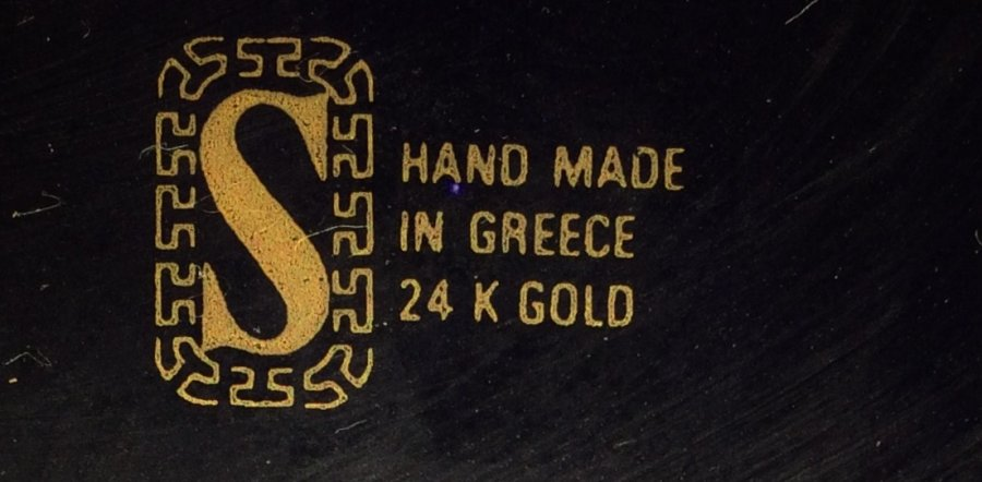 What's 'five, 1980s manufactured 24k gold inlayed hand made blue porcilon of Greek Gods' Worth? Picture