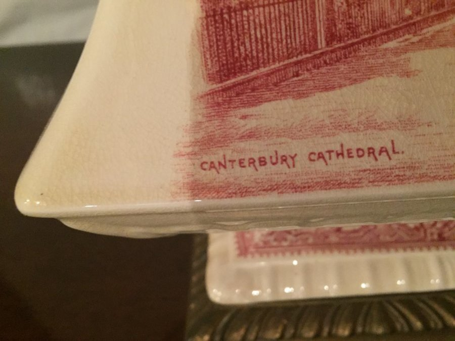 What's 'red transferware lamp' Worth? Picture