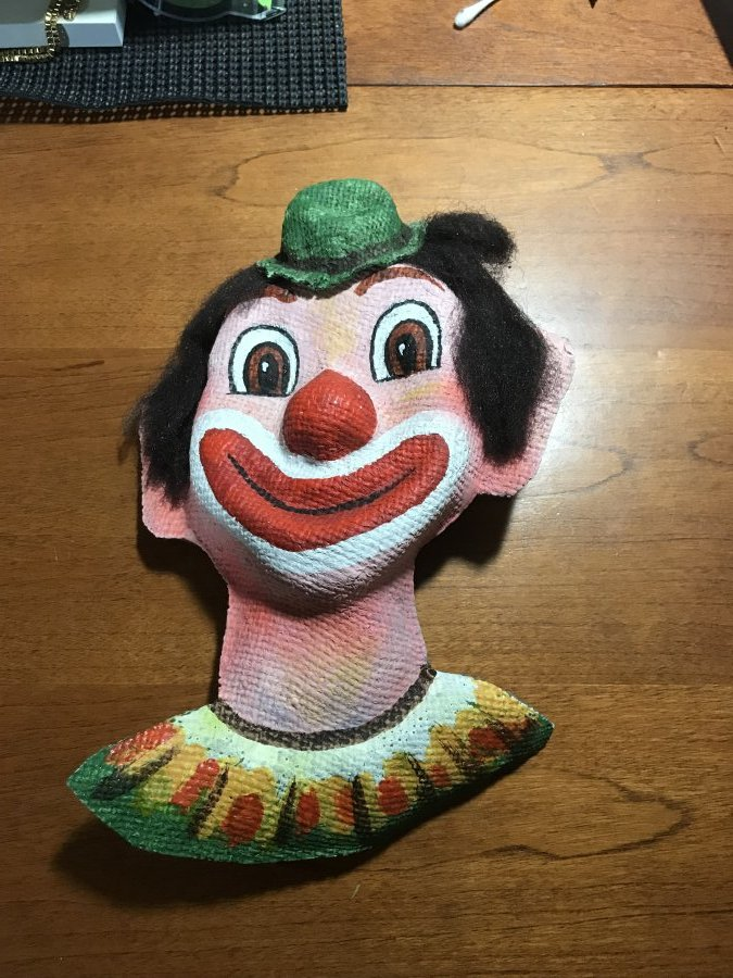 What's 'Paratore originals clown on burlap #146' Worth? Picture