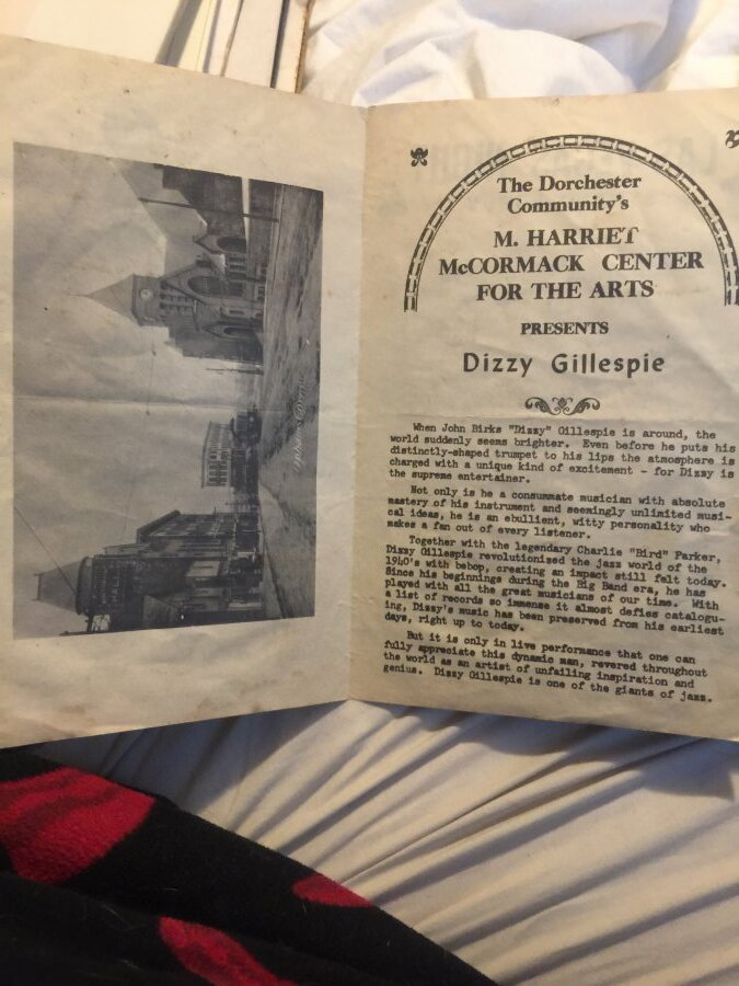 What's 'Dizzy Gillespie pamphlet of at the strand Uphams Corner ' Worth? Picture