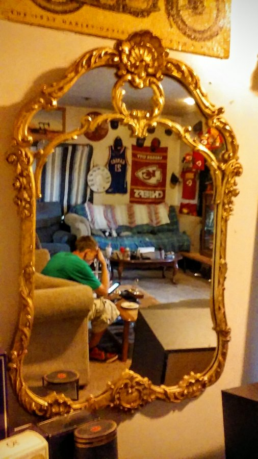 What's 'antique gold gilt wood framed mirror' Worth? Picture