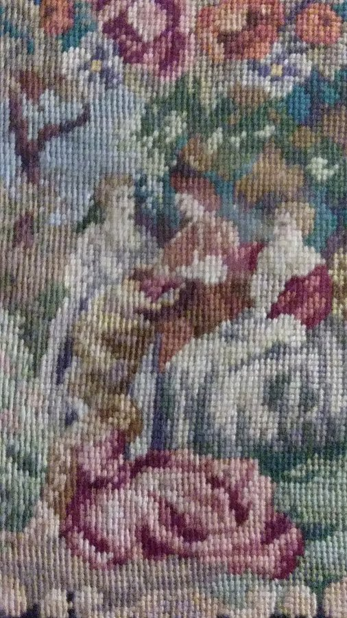 What's 'Minuture beaded dollhouse tapestry framed' Worth? Picture