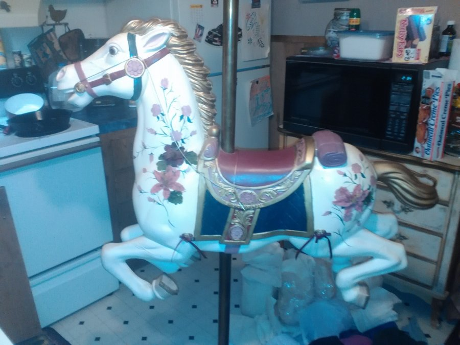 Hand painted carousel horse Picture