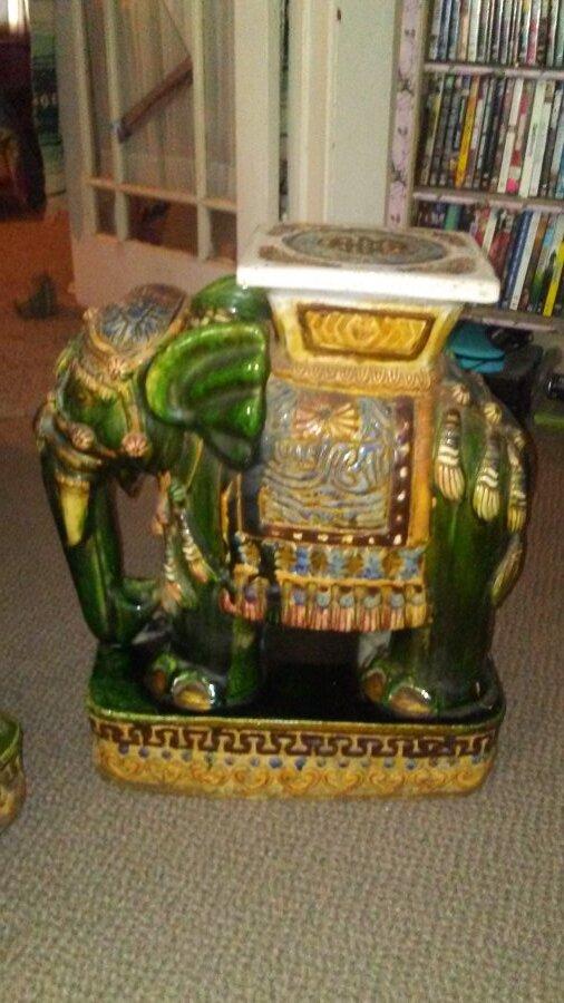 1960s ceramic elephants from Vietnam  Picture