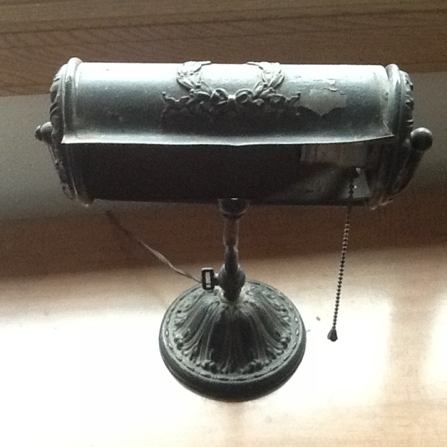 Iron banker's lamp Picture
