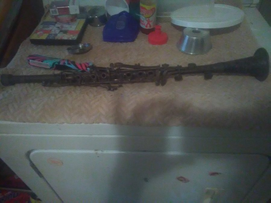 What's 'Metal clarinet made by champion serial number 1208j' Worth? Picture