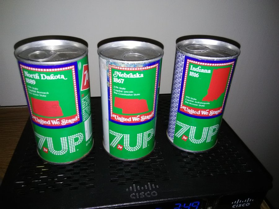 unopened and empty 7 UP united we stand pop can is worth how much Picture