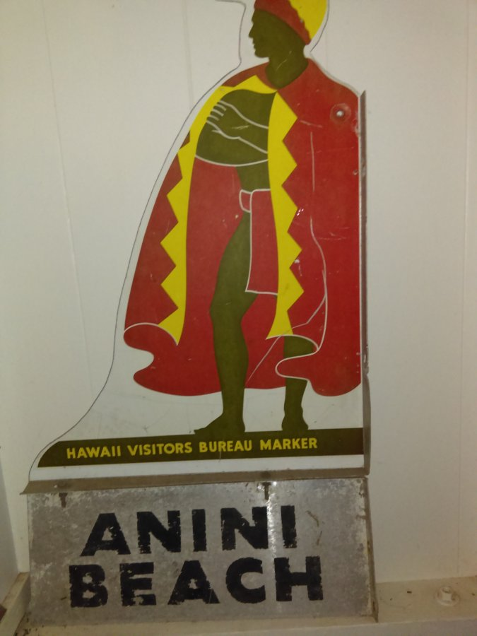 What's 'Vintage hawaiian warrior location sign' Worth? Picture