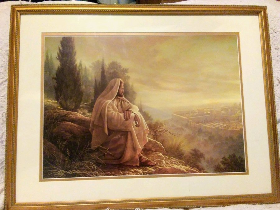 Greg Olsen signed numbered lithograph w/coa Picture