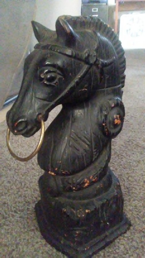What's 'Cast iron horse head hitching post' Worth? Picture