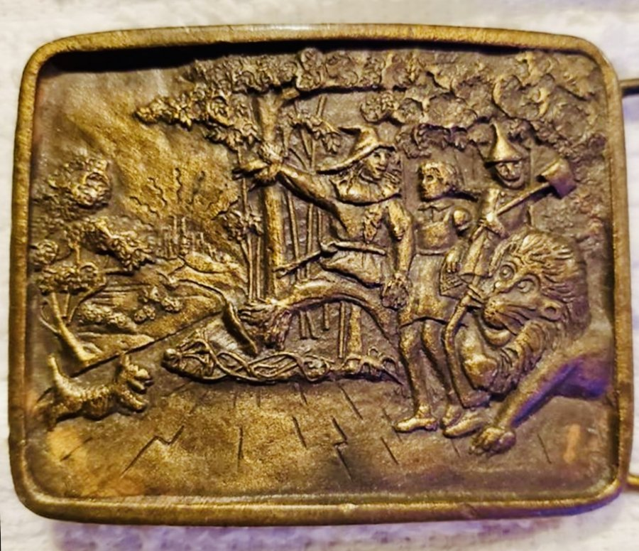 What's 'Wizard of Oz belt bronze buckle' Worth? Picture